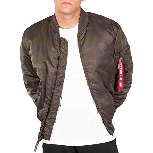 Alpha 191118 Homme Olive Bomber 07 Camo Dark gHTRwgrq