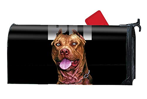FONDTHEE Pitbull Mailbox Makeover Decorative Printed Magnetic Cover for Large Mailboxes