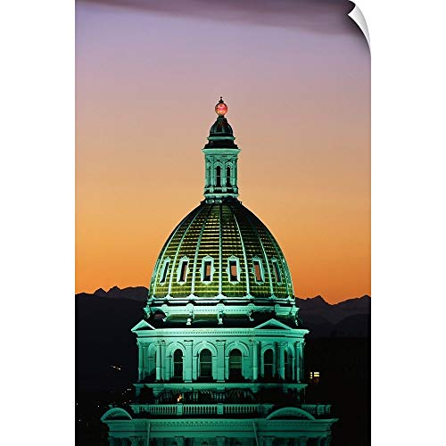 CANVAS ON DEMAND Wall Peel Wall Art Print Entitled Colorado State Capitol Building Denver CO 12