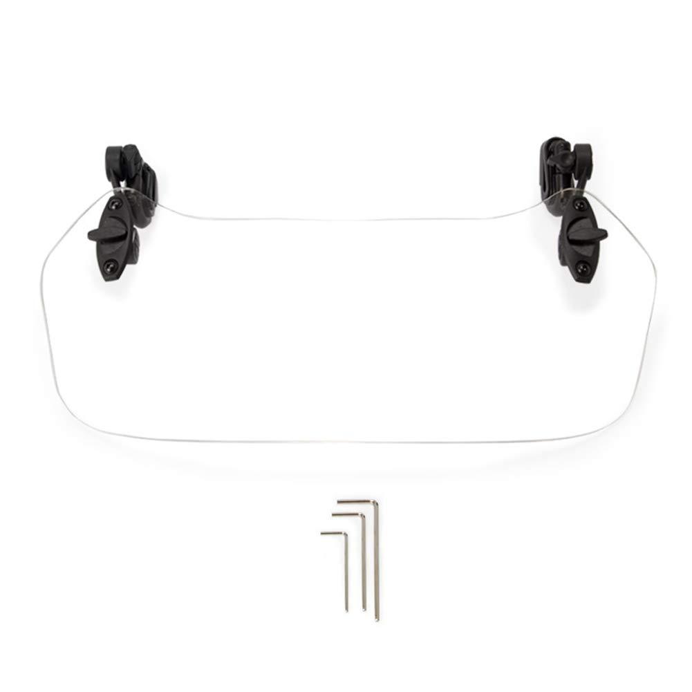 28x11cm vap26 Spoiler Clip-on Parabrezza Moto Impermeabile Regolabile deflettore Universale Grey