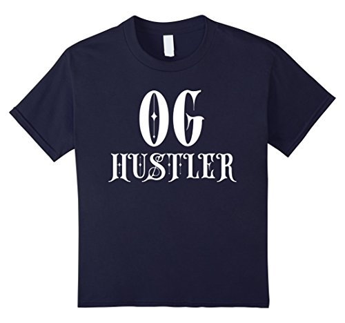 Kids OG HUSTLER SHIRT - BEST ORIGINAL GANGSTA STREET HOOD THUG 12 (Gangsta Rap Costume)