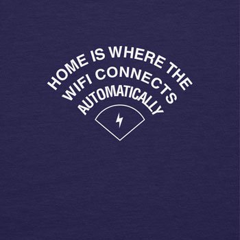 TEXLAB - Home is where the WIFI connects automatically - Herren Kapuzenpullover Navy