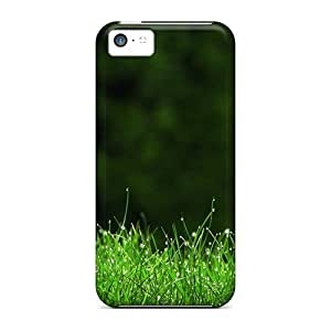 Premium Grass Back Cover Snap On Case For Iphone 5c