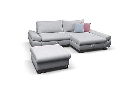 Amazon.com: Sofá cama seccional gris esquina derecha, Gris ...