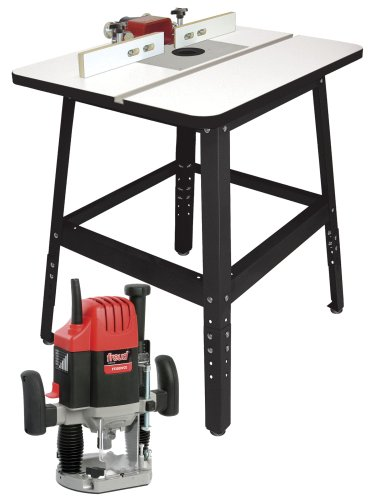 freud rts5220 routertable combo package includes ft2200e router sh5 fence aluminum insert plate and sturdy 16 gauge steel stand