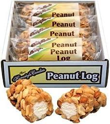 Peanut Logs (12 individually wrapped 3oz peanut logs per box)