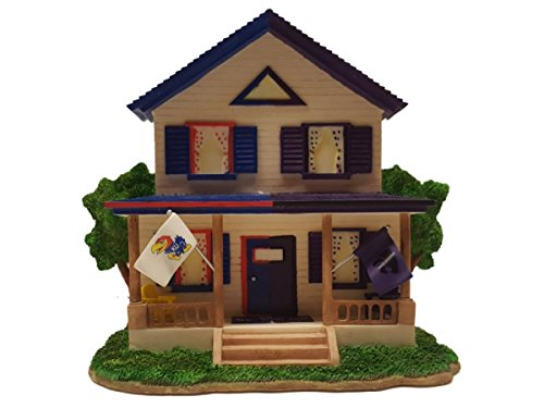 Kansas Jayhawks Kansas State Wildcats RC House Divided Figurine Collectible