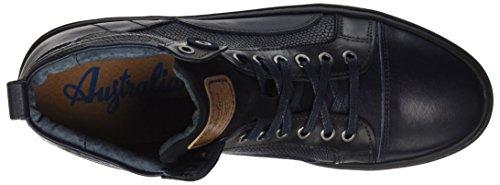AUSTRALIAN Balmoral Leather, Sneaker a Collo Alto Uomo Blau (Blue-black)