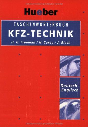 Taschenwörterbuch KFZ-Technik, Deutsch-Englisch