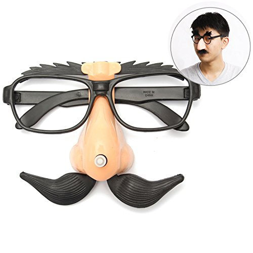 Mask & Costumes - Funny Plastic Nose Mustache Clown Glasses Hallowmas Party Supply - Plastic Nose Mustache Glasses - - Spectacles Boss