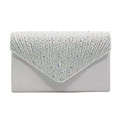 Hand Beaded Envelope Clutch