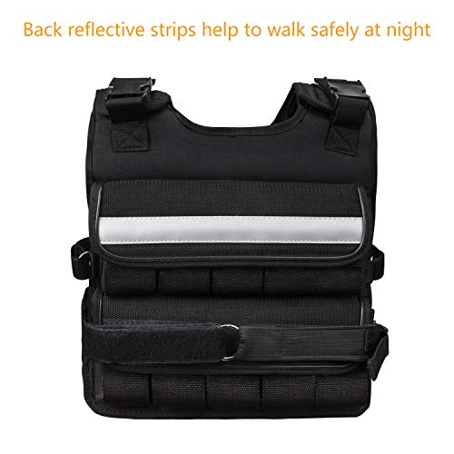 K2Elite Weighted Vest Short & Narrow Style for Men 10lbs~60lbs Adjustable Cross Training Workout Black (60lbs) by K2 Elite (Image #3)
