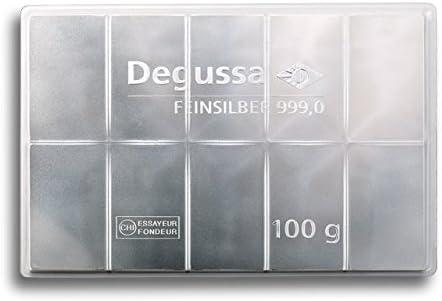 999 Feinsilber 10 g Degussa Silberbarren Made in Germany