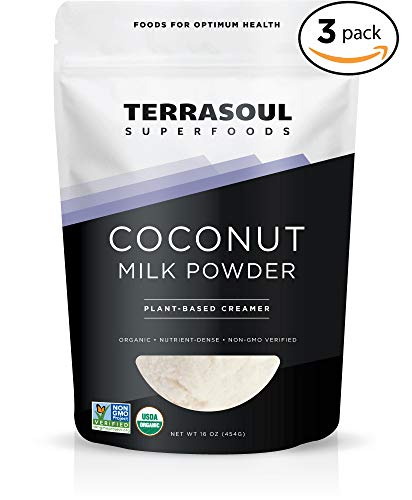 Terrasoul Superfoods Organic Coconut Milk Powder (Plant-Based Keto), 3 Pounds