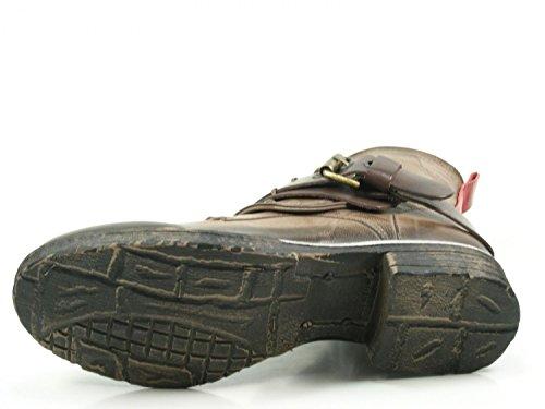201 Biker green Damen Boots go Berlin 1 Stiefel Stiefeletten wz4WqWOt1