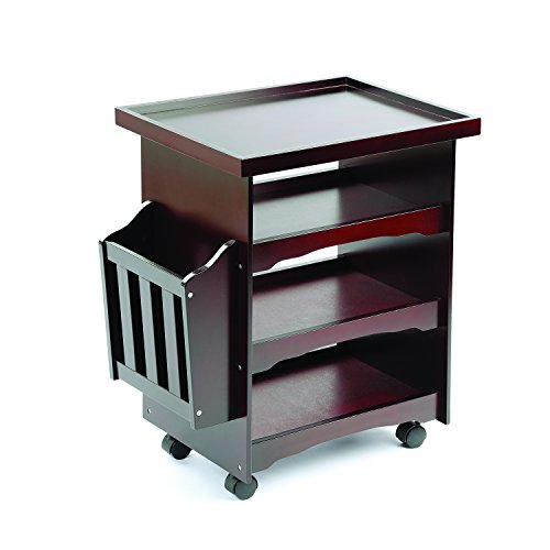 24'' 4 Tier Wood Multi-Purpose Rolling Utility Cart by Utility Carts