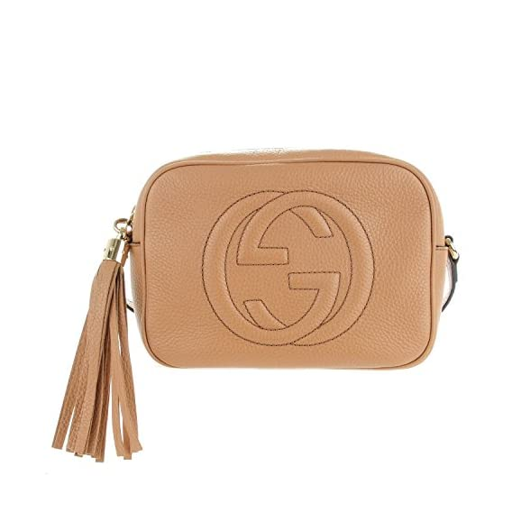 f1d12d66cdd Gucci Crossbody Bag Soho Disco Camelia Beige Light brown Leather ...