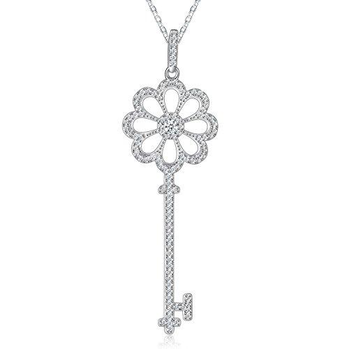 "Necklace, Jewelry Pendant Necklace, Sable ""Secret Garden's Key"", Best Idea Gifts for Teen Girls Women Girlfriend"