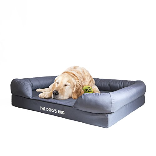 The Dog's Bed, Orthopedic Premium Memory Foam Waterproof Dog Bed, 4 Sizes/6 Colors, Ease Pet Arthritis & Hip Dysplasia Pain, Therapeutic & Supportive, Removable Washable Quality Oxford & Plush Covers (Waterproof Bed Orthopedic)