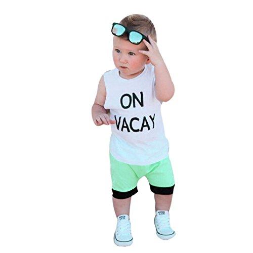 senza Top bianca pantaloni corti Neonato Camicie Bambini Pullover stampa 2pcs Felpa bambino Cartoon lettera BYSTE maniche ZFvSwAq8A