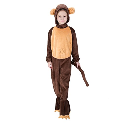 [Meeyou Monkey Costume for Boys & Girls Cosplay,10-12] (Monkey Costumes Child)