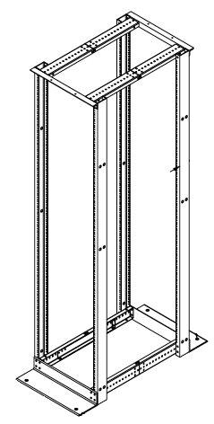 E4DRS19FM45U: Hoffman 4-Post Open Frame Rack, 45RU, 7'H by Hoffman