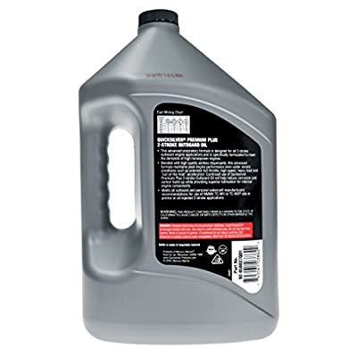 Quicksilver 858027Q01 Premium Plus Two-Cycle TC-W3 Oil for 2-Cycle Mercury, Mariner, Force, Mercury Jet Drive Outboards and Mercury Sport Jet Engines, 1 Gallon Bottle
