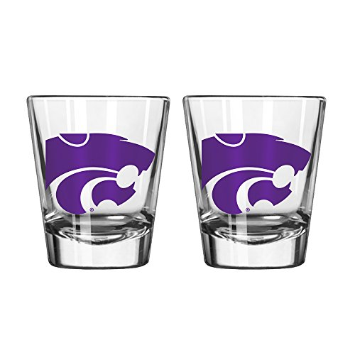 NCAA Kansas State Wildcats Game Day Shot Glass, 2-ounce, 2-Pack ()