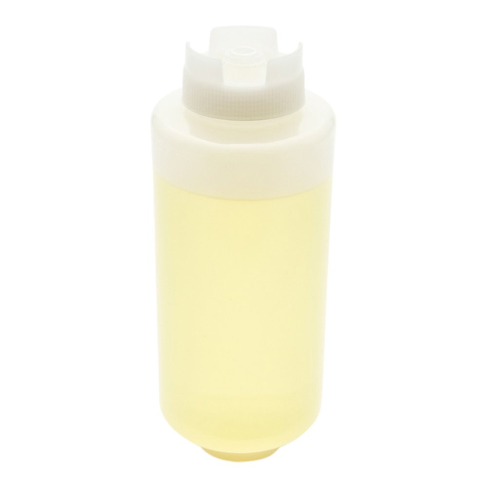 32oz. FIFO Inverted Plastic Squeeze Bottle with Refill and Dispensing Lids - First In First Out - Perfect for Restaurants, Catering, and Food Trucks - 1 count box - Restaurantware