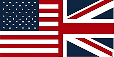 "MAGNET American British Flag Decal 5""x3"" USA Britain Union Jack Vinyl Car MAGNETIC Sticker"