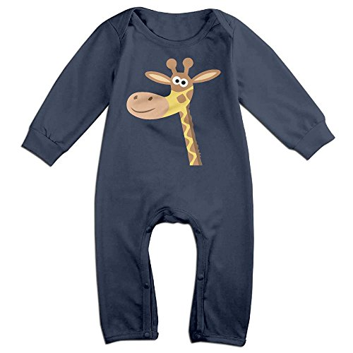 Keep It Clean Plus Size Costumes (Infant Baby's Giraffe Long Sleeve Romper Jumpsuit 6 M Navy)