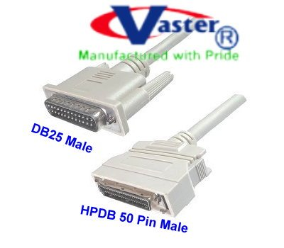SuperEcable - 20357-6 FT - SCSI-1 to SCSI-2 DB25 Male to HPD 50 Male Cable by Vaster