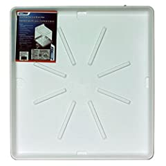 """20752 Features: -Pan.-High impact polypropylene plastic.-Will not rust, corrode or crack.-Bottom or side outlet, not pre cut.-Easy to install.-1""""Drain can pass all codes.-Washing machine.-ID 27"""" x 30"""" x 2-1/8"""". Includes: -Includes PVC drain f..."""