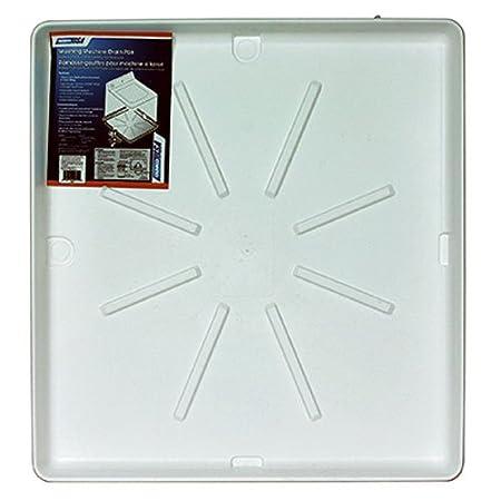 Camco 20752 32'OD x 30' Washing Machine Drain Pan w/PVC Fitting (White)