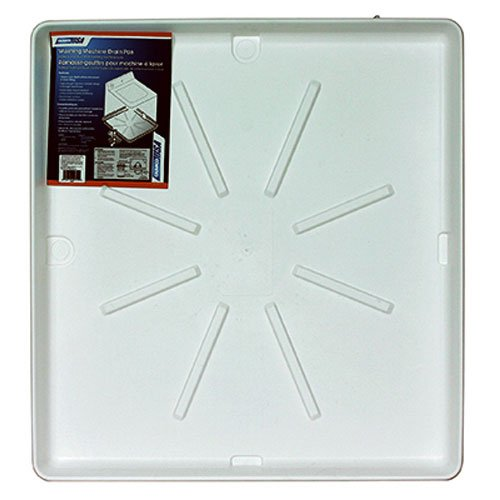 "Price comparison product image Camco 20752 32""OD x 30"" Washing Machine Drain Pan w/PVC Fitting (White)"