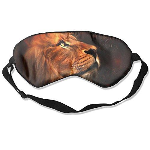 Eye Mask Eyeshade Lion Face Painting Sleeping Mask Blindfold Eyepatch Adjustable Head Strap