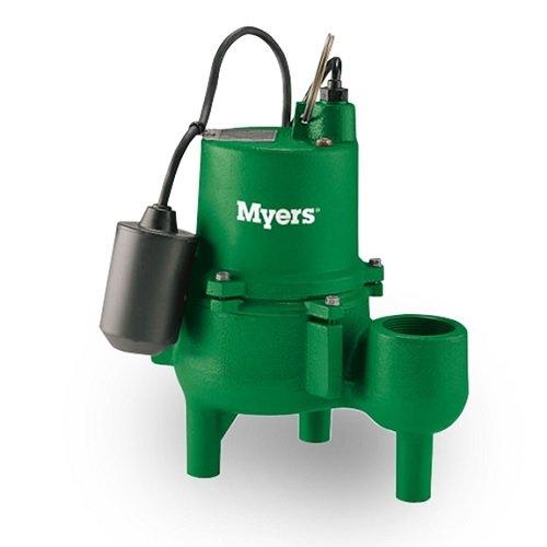 Myers SRM4P-1 Sewage Pump 0.4 HP 115V 1 PH 10 Foot Cord Automatic