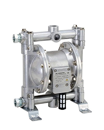FUELWORKS Heavy Duty Air-Operated Aluminium Diaphragm Pump (Nitril- 12GPM 1/2'') by Fuelworks