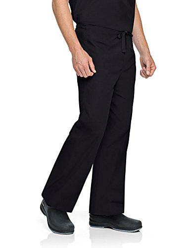 Bkp Landau (Landau Unisex-Adults Men's Reversible Drawstring Scrub Pants, Black, Small/Petite)
