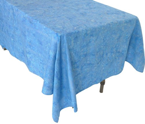 Squish Blue Diamond Coffee Table Tablecloth - Handcrafted Batik 100% Cotton - Bali Batik Tablecloth