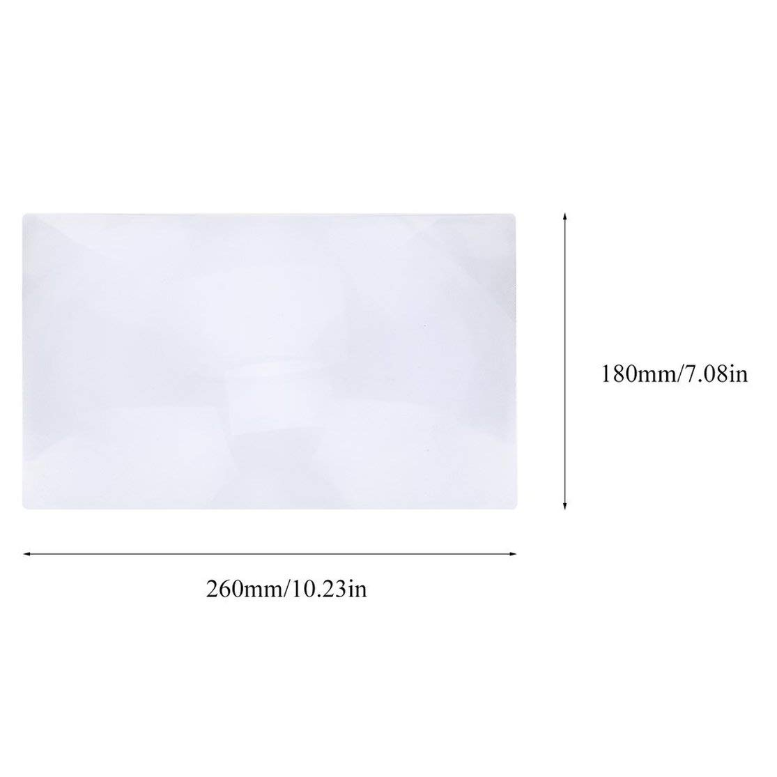 Lupa de aumento de tama/ño 3X XL de Portale Hoja de lupa de p/ágina completa Lente de Fresnel para leer Documento de peri/ódico Color:silvery