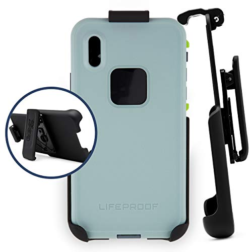Belt Clip Holster Compatible with Lifeproof Fre Case - iPhone X and iPhone Xs | Easy Fit | Slim Design | Built in Kickstand [case not Included]