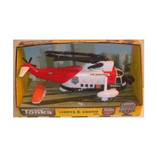 Tonka Lights & Sound Rescue Helicopter ~ Red (Tonka Helicopter)