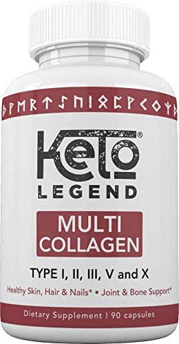 Multi Collagen Peptides Pills for Women and Men – Hydrolyzed Collagen Protein Supplements for Anti-Aging, Healthy Hair, Joints and Bones – 90 Multi Collagen Capsules 1500 mg