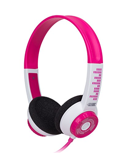 FSL Protec Kids Headphones with Adjustable Volume Limiting (Pink) by FSL