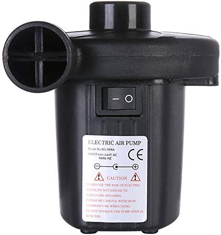 Noir Bigherdez Pompe /à air /électrique Gonfler la Maison D/égonfler pour Matelas pneumatique Lit pneumatique Pompe de gonflage /électrique Petite Pompe Gonflable