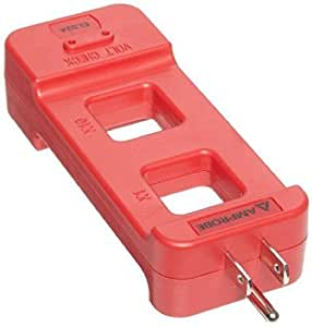 AC Line Splitter Rated for 120V and 15A Red New