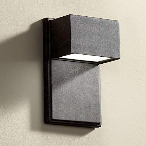 - Lyons Modern Outdoor Wall Light Fixture LED Bronze Black Box 8
