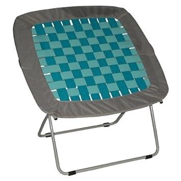 Folding Steel Frame Waffle Chair, Teal
