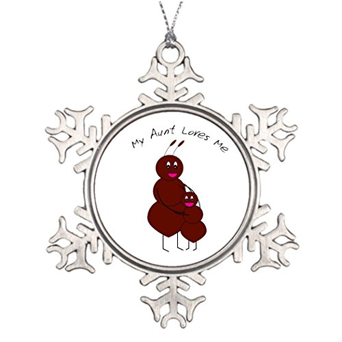 Tree Branch Decoration My Aunt Loves Me Friendship Snowflake Ornaments - Nephew Ornament